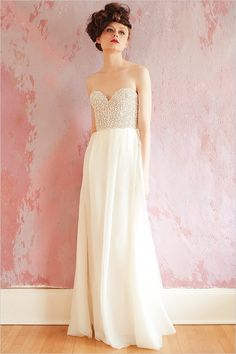 This Sparkly bodice Sarah Seven Wedding Dress is divine.  sarahseven.com