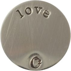 LARGE SILVER LOVE / SILVER PLATES | ORIGAMI OWL CUSTOM JEWELRY | STAMPED PLATE