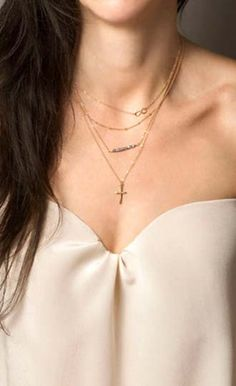 Lucky Eight Multilayer Sexy Necklace With Cross