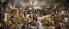 """Tintoretto, Crocifissione, 1565, olio su tela, 536 x 1224 cm,  Scuola Grande di San Rocco, Venezia  """"In gondola a San Rocco, dove la Crocifissione del Tintoretto mi ha lasciato senza fiato; non me la ricordavo più."""""""