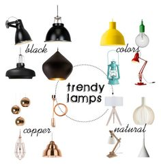 """""""16 Trendy Lamps"""" by deho-interiors ❤ liked on Polyvore"""