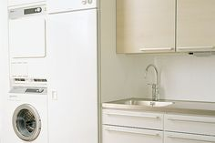 Kodinhoito Stacked Washer Dryer, Washer And Dryer, Laundry Room, Home Appliances, House Appliances, Washing And Drying Machine, Laundry Rooms, Appliances, Laundry