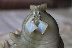 Cube Opalite Earrings sterling silver hook by JianBeadsJewelry, $12.00