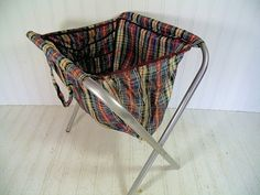 Vintage Plaid Fabric Cloth Crafters Bag   Retro by DivineOrders, $27.00
