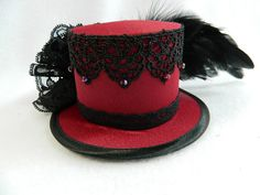 http://de.dawanda.com/product/96260023-mini-zylinder-dunkel-rot-damenhut-minihat-hut-bibi