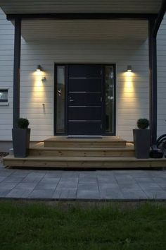 Outdoor Rooms, Outdoor Living, Outdoor Decor, Exterior House Lights, Front Entrances, Decks And Porches, House Floor Plans, My Dream Home, Home Deco