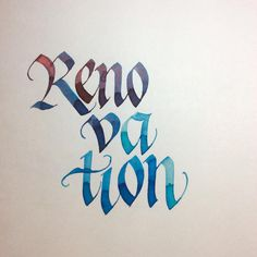 My latest calligraphic obsession: pointed gothic/gothicized italic. . . About the renovation: Currently we are nine in a starter-size house. I've designed an addition and, in the process, added digital paint to existing walls in a 3D app. Now gotta get a building permit and get this thing rollin'! The whole house is gonna get a makeover; when we built it, we put cream walls errywhere and, well, it's time for a little pick-me-up.  (Except the part where I sacrifice calligraphy time  A ...