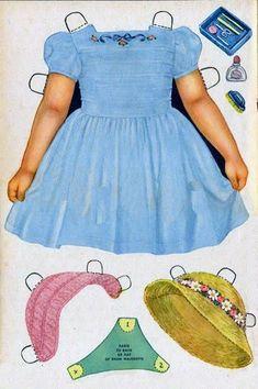 Las Recortables de Veva e Isabel: Peggy y Kit the Zo doll