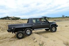 Australian Toyota converted by Kinetic Engineering Services to become the Southern Scorpion Land Land Cruiser Pick Up, New Toyota Land Cruiser, Land Cruiser 70 Series, Cool Trucks, Big Trucks, Pickup Trucks, Toyota 4x4, Toyota Trucks, 6x6 Truck