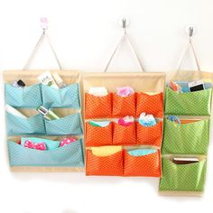 Hanging Storage Bag Organizer Container Bedside Wardrobe Toiletry Wall Door New