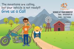 The ‪#‎Mountains‬ ‪#‎Calling‬ but your vehicle is not ‪#‎ready‬!!!! Give us a ‪#‎Call‬ ‪#‎Online‬ ‪#‎Car‬ ‪#‎Services‬ in ‪#‎Bangalore‬ ‪#‎Hoopy‬ # 7337733550