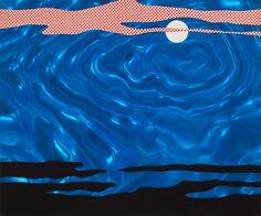 Roy Lichtenstein, Moonscape, 1965  Rowlux and Screenprint on board,19-15/16 x 23-15/16 in. (50.6 x 60.8 cm)