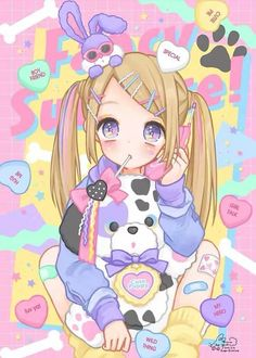 Kawaii? I love get pigtails.