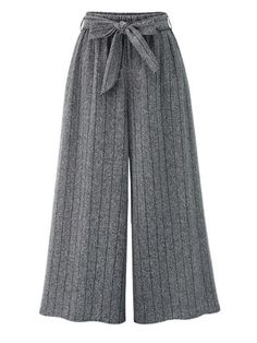 Gorgeous Casual Loose Striped Elastic Waist Women Wide Leg Pants - NewChic Mobile
