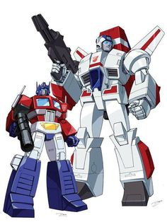 Optimus and Skyfire (jetfire)