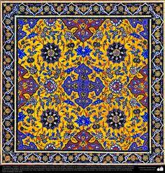 Iran's Art - enamel and mosaic (Kashi Kari) Islamic Art Pattern, Pattern Art, Tile Art, Mosaic Art, Islamic Tiles, Middle Eastern Art, Paisley Art, Persian Culture, Iranian Art