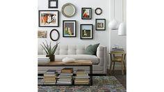 living room. {dixon coffee table @ crate & barrel}