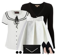 """""""B&W"""" by divacrafts ❤ liked on Polyvore featuring Michael Kors, Voodoo Vixen, Chicwish, AeraVida and Original"""