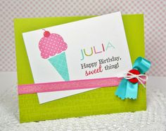 Personalized Sweet Birthday Card by Melissa Bickford for Papertrey Ink (March 2014)