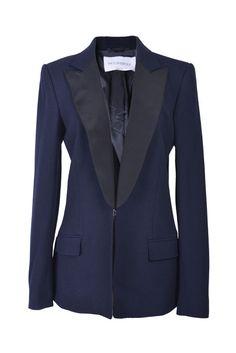 Viktor & Rolf Silk Wool Dark Blue One Button Blazer US 8 IT 44 #ViktorRolf #Blazer Viktor Rolf, Silk Wool, Blazer Buttons, Luxury Consignment, Dark Blue, Model, Sleeves, Jackets, Fashion