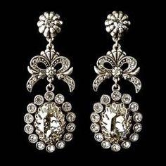 Sweet Romance golden crystal earrings