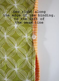 Machine Binding Tutorial   Cluck Cluck Sew