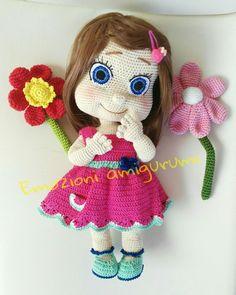 Doll amigurumi crochet bambola uncinetto