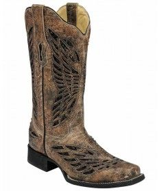 582ed119c868 Circle G Urban Ladies Gold Cowhide Leather Cowgirl Boots