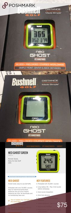 Bushnell golf neo ghost gps rangefinder 30,000 pre loaded courses worldwide. New, never used. Bushnell Other