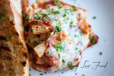 Baked Ziti with sweet Italian sausage - my family LOVED this!  They all said, YOU HAVE TO MAKE THIS AGAIN!!