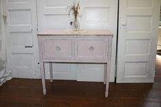 Antique French Petite Sideboard Server by capemayantiquesinc