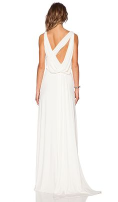 Shop for Halston Heritage Draped Cowl Back Gown in Bone at REVOLVE. Free 2-3 day shipping and returns, 30 day price match guarantee.