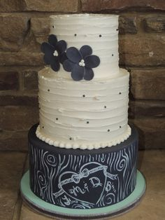 Chalkboard Themed Wedding Cake