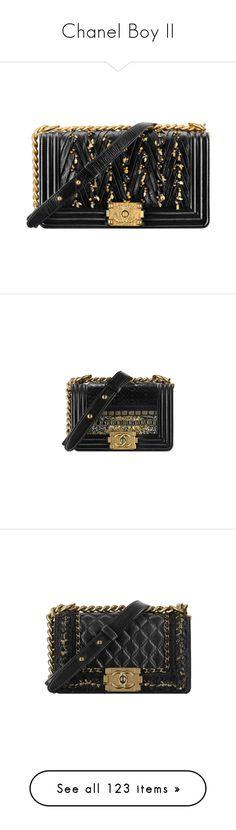 """Chanel Boy II"" by sakuragirl ❤ liked on Polyvore featuring chanel, bags, handbags, metal purse, chanel bags, lambskin leather purse, lambskin purse, purse bag, chanel purse and white handbag"