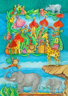 Children Zoo Painting by Sonja Mengkowski - Children Zoo Fine Art Prints and Posters for Sale