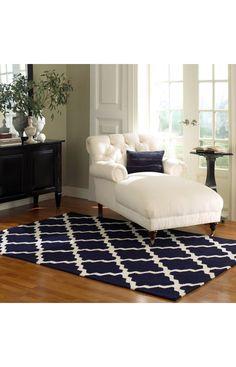 blue trellis rug from rugsusa.com  already have