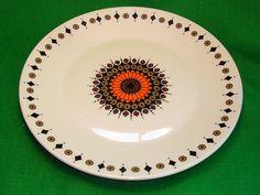 "Vintage Retro 1970s J&G Meakin Inca RARE Salad Plate Orange Brown Shabby Chic 9"" | eBay"