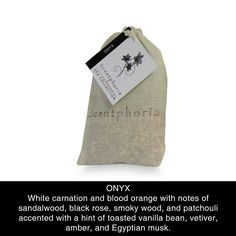 Scentphoria Potpourri Sachet in Onyx. Vegan, Cruelty Free, Sulfate Free and Paraben Free. Hand made in the USA.