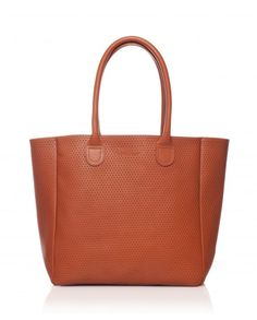 Petit Cabas cuir perforé Brique   Small leather tote bag in brick - Bonnie  and Bag e59d9e3deaa
