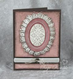 I like the idea of doing this oval design inside my gorgeous oval frame. Homemade Birthday Cards, Homemade Cards, Card Crafts, Paper Crafts, Happy Birthday Gorgeous, Card Making Tips, Crimping, Oval Frame, Pretty Cards
