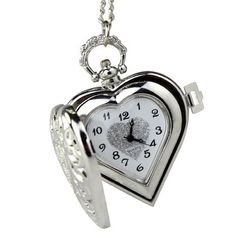 Amazon.com: 2014 Susenstore Vintage Steampunk Heart Locket Style Pendant Pocket Watch Necklace: Watches $6.31 + free shipping
