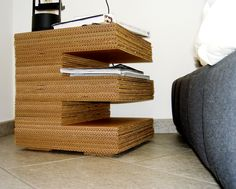 annikemjo:  Cartoon Table - Supermarket  Cardboard furniture. #inspiration