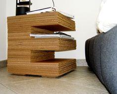Carton Table - Supermarket  Cardboard furniture.  annikemjo: