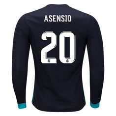 adidas Marco Asensio Real Madrid Long Sleeve Away Jersey 17/18