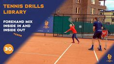 Top tennis drills: Forehand inside out + inside in combo Tennis Videos, Inside Out, Drills, Upper Body, Improve Yourself, Basketball Court, Free, Tops, Drill