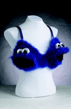Cookie monster- Breast cancer awareness bra idea