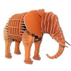 Paper Maker 3-D Puzzles for Kids Elephant Model Children's Jigsaw Educational Toys for 5-10 Year