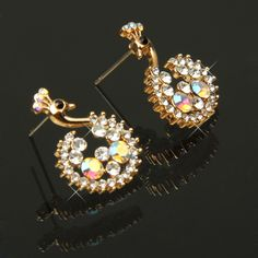 Peacock Shaped Charming Rhinestone Pendant Ear Drop Earrings / Ear Pendants Jewelry