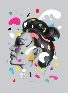 Gala / by Oh Yeah Studio. for the She Creatives exhibition at Grafill. #illustration