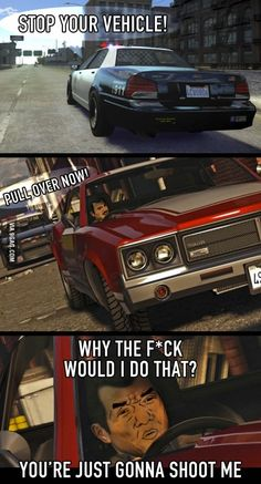 "GTA logic -.-"""